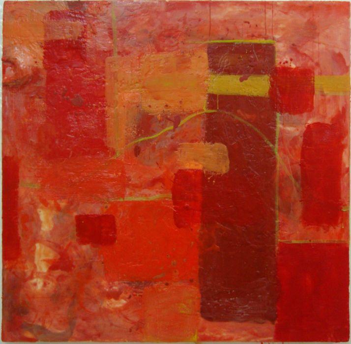 """Encaustic on wood panel, 48"""" X 48"""", Reuben Sinha © 2012."""