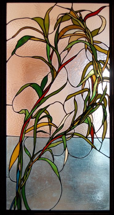Bamboo Stained Glass Window