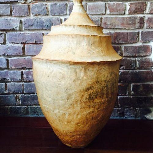"24"" Urn, fired cone 10 in gas kiln"